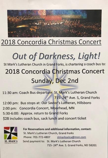 Concordia Concert 2018 poster