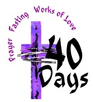 Lent schedule colored